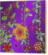 Floral Fantasy 122410 Wood Print