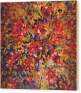 Floral Feelings Wood Print