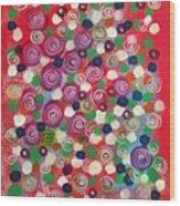 Floral Field  Wood Print