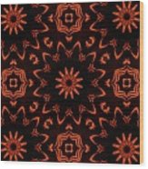 Floral Fire Tapestry Wood Print