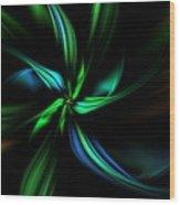 Floral Fractal 040710 Wood Print