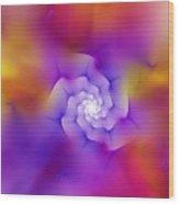 Floral Fractal 052210 Wood Print