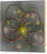 Floral Fractal 11-24-09 Wood Print