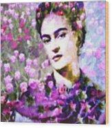 Floral Frida Vi Wood Print