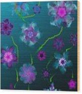 Floral Fun 1 Wood Print