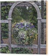 Floral Garden View Wood Print