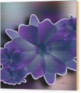 Floral Grace Wood Print