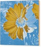 Floral Impression Wood Print