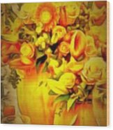 Floral In Ambiance Wood Print