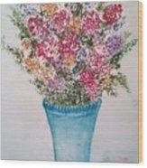 Floral Inked Wood Print