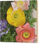 Floral Kaleidoscope Wood Print