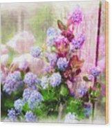 Floral Merge 11 Wood Print by Artzmakerz