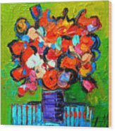 Floral Miniature - Abstract 0315 Wood Print