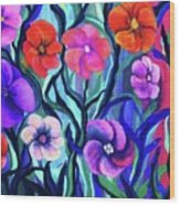 Floral No. 1 Wood Print by Jeanette Stewart