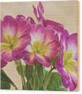 Floral Oil Painting Wood Print