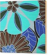 Floral Party Wood Print