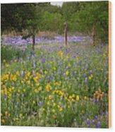 Floral Pasture No. 2 Wood Print