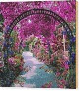 Floral Pathway Wood Print