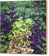 Floral Print 005 Wood Print