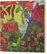 Floral Reef Wood Print
