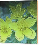 Floral Relief Wood Print