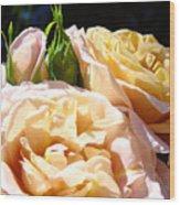 Floral Roses Garden Art Prints Baslee Troutman Wood Print