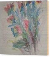 Floral Study In Pastels B Wood Print