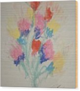Floral Study In Pastels Bb Wood Print