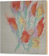 Floral Study In Pastels Cc Wood Print