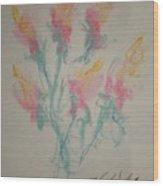 Floral Study In Pastels K Wood Print