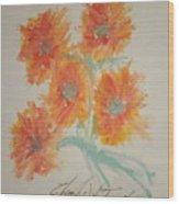 Floral Study In Pastels U Wood Print