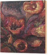 Floral Sun Worship Wood Print