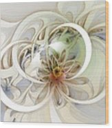Floral Swirls Wood Print