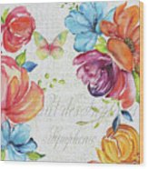 Floral Symphonie Wood Print