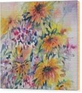 Floral Symphony Wood Print