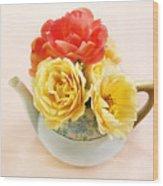 Floral Tea Wood Print