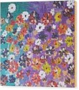 Floral Theme Wood Print