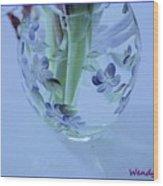 Floral Vase Wood Print
