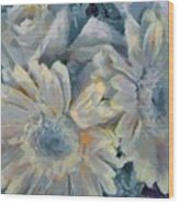 Floral Vegged Out Wow Wood Print
