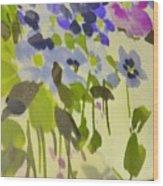 Floral Vines Wood Print