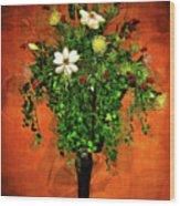 Floral Wall Arrangement Wood Print
