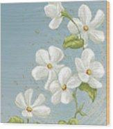 Floral Whorl Wood Print