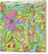 Floral World Wood Print
