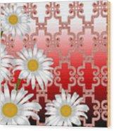 Floral Zellige Design 4 Wood Print