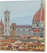 Florence And The Roofs Wood Print