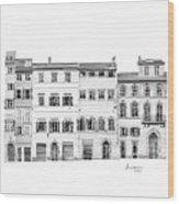 Florence City Scene Wood Print