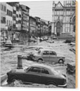 Florence: Flood, 1966 Wood Print
