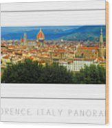 Florence, Italy Panoramic Poster Wood Print