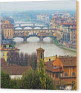 Florence Italy Wood Print by Photography By Spintheday
