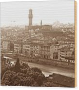 Florence Italy Wide Wood Print